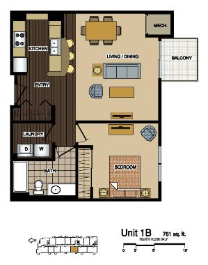 1B Floor Plans at Station 38 Apartments, Minneapolis, MN
