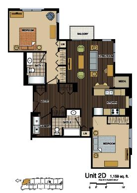 2D Floorplan at Station 38 Apartments, Minneapolis, MN